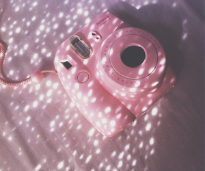 pink, photography, and polaroid image