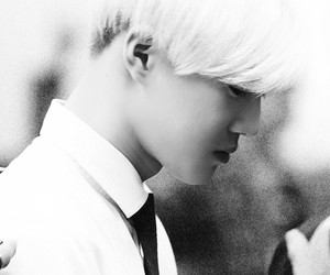 black and white, exo, and korean image