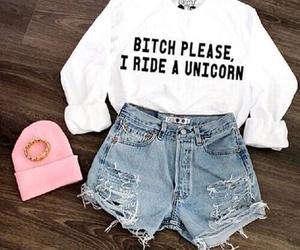 fashion, unicorn, and outfit image