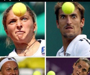tennis, funny, and face image