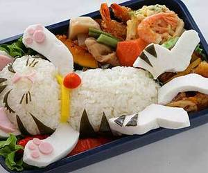 food, cat, and bento image