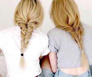 beautiful, best friends, and hairstyle image