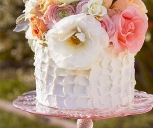 cake, flowers, and party image