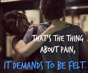 john green, pain, and tfios image