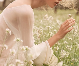flowers, pretty, and girl image