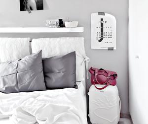 bedroom, grey, and interior image