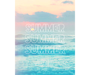 beach, june, and summer image