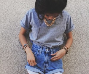 denim, girl, and fashion image