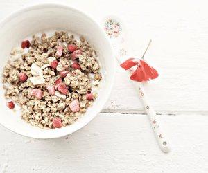 brekfast, milk, and cereals image