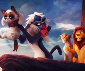 disney, funny, and the lion king image