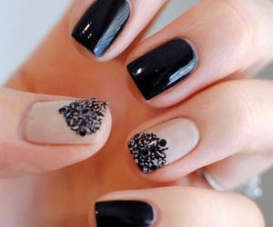 black, nail, and cute image