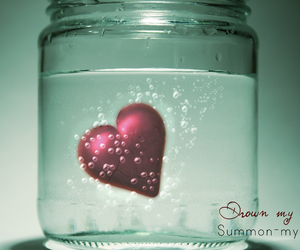 heart, water, and love image