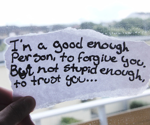 trust, forgive, and text image