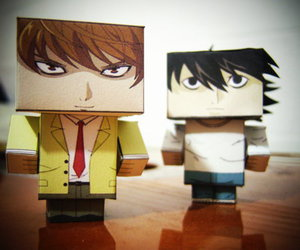 death note, light yagami, and L image