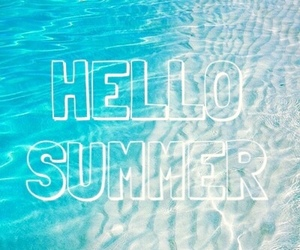 blue, hello, and summer image