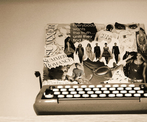 fashion, typewriter, and vintage image