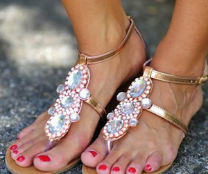 sandals, fashion, and summer image