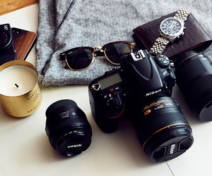 camera, photography, and candle image
