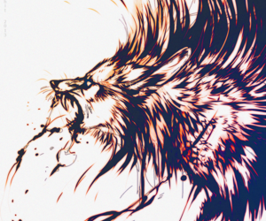 black, pain, and black wolf image