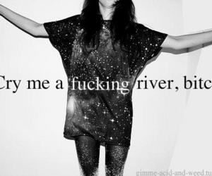 bitch, cry, and river image
