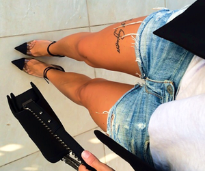 louboutin, love, and shorts image