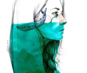artistic, girl, and drown image