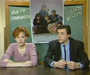 Judd Nelson, Molly Ringwald, and The Breakfast Club image