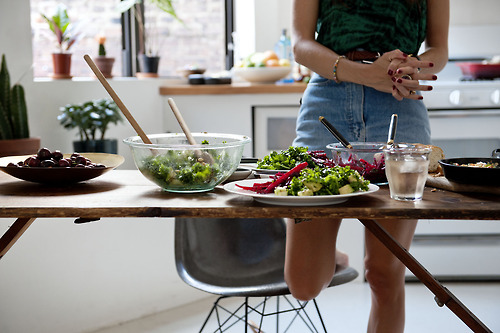 cooking, girl, and healthy image