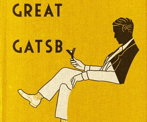 book, the great gatsby, and yellow image