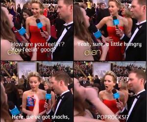 Jennifer Lawrence, food, and red carpet image