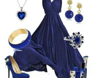 blue, dresses, and fashion image