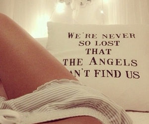 angel, quote, and bed image