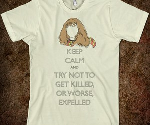 harry potter, hermione, and keep calm image