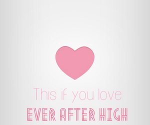eah, heart it!, and ever after high image