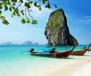 beach and thailand image