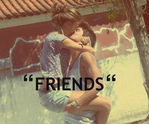 boy, couple, and just friends image