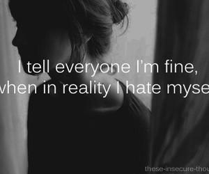 hate, sad, and fine image