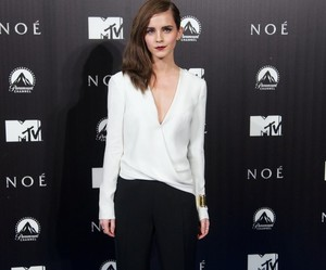emma watson, fashion, and black and white image