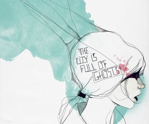 illustration, manuel rebollo, and city full of ghosts image