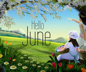 june, hello june, and nature image