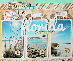 album, beach, and scrapbook image