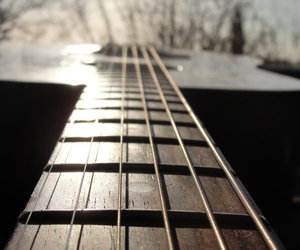 beauty, guitar, and light image