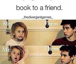 funny, friends, and book image