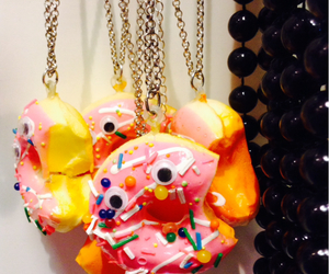 donut, eyes, and jewerly image