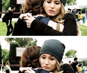 faking it, amy, and hug image