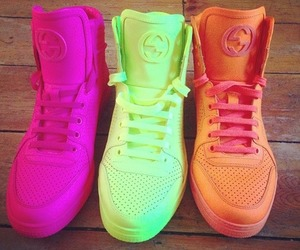 fluo, gucci, and yellow image