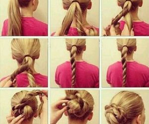 directions, ponytail, and bun image