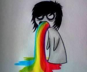 emo and rainbow image