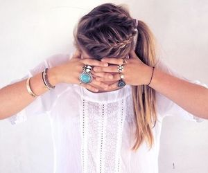 braid, hair style, and summer image