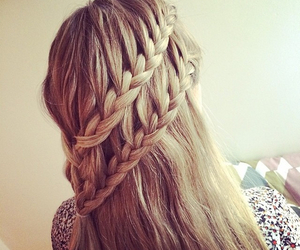 blond, girly, and hairstyle image